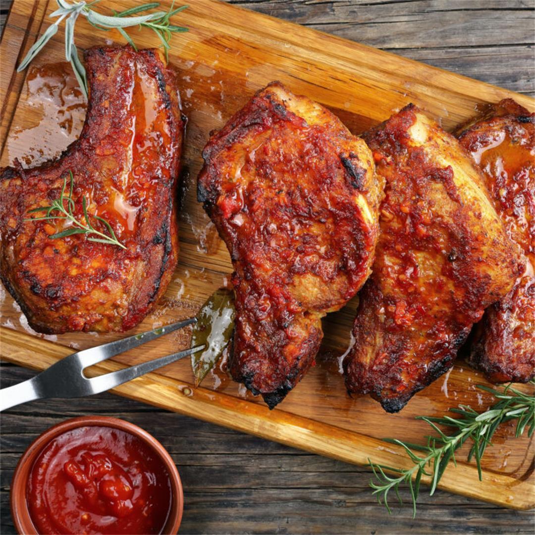 Grilled Honey Garlic Pork Chops Recipe