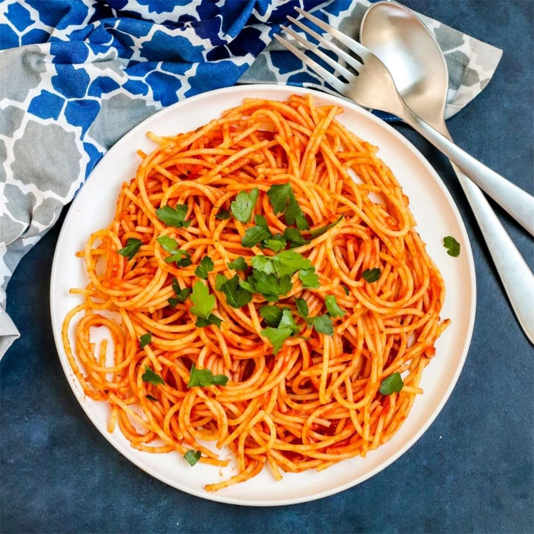 15 Minute Tomato Paste Pasta Sauce