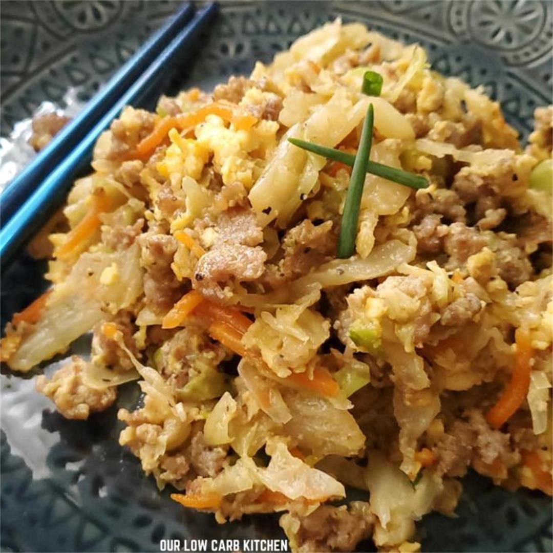 Low Carb Egg Roll In A Bowl- With Ground Pork