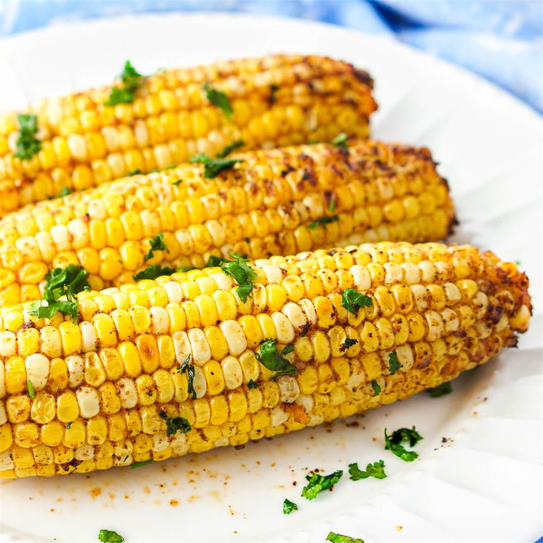 Spicy Air Fryer Corn on the Cob