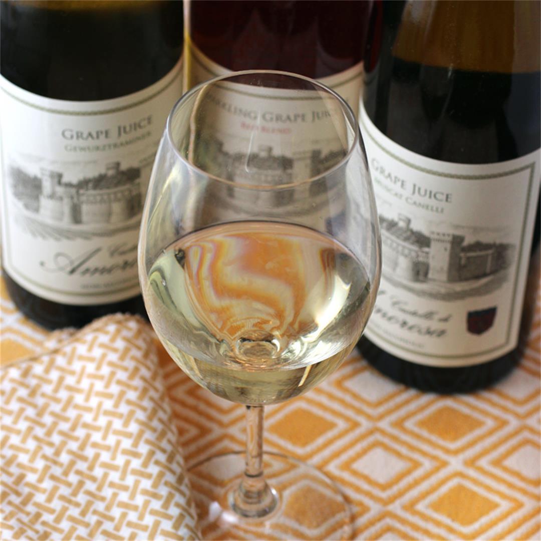 Castello di Amorosa estate-grown non-alcoholic grape juices