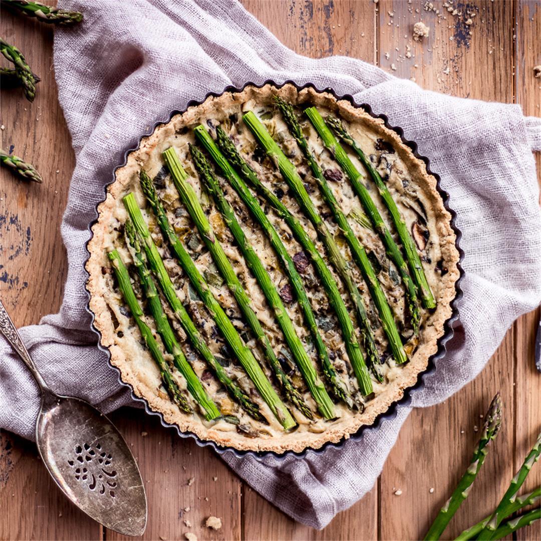 Asparagus & Leek Vegan Quiche (gluten free)
