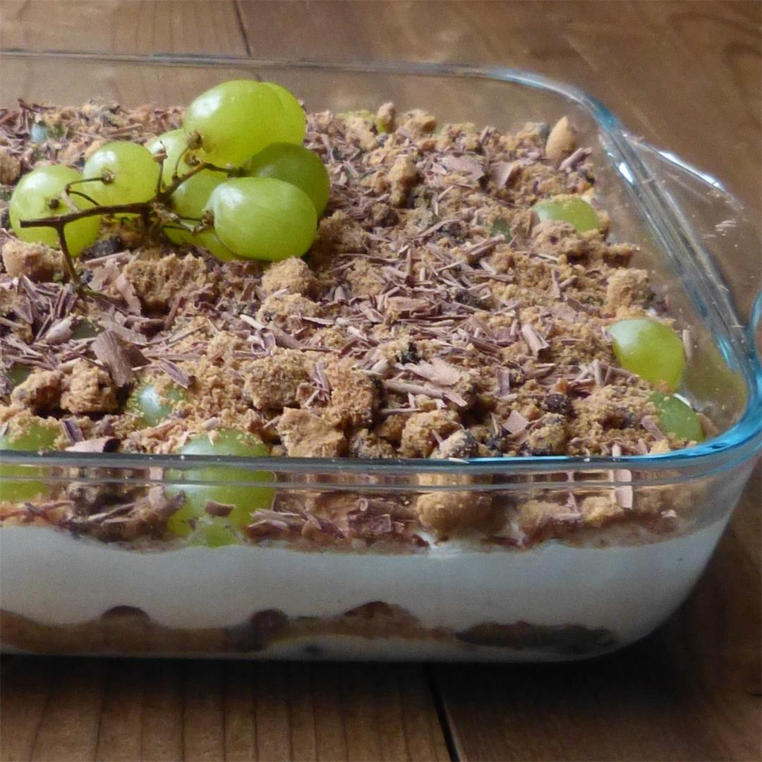 No bake grape cheesecake