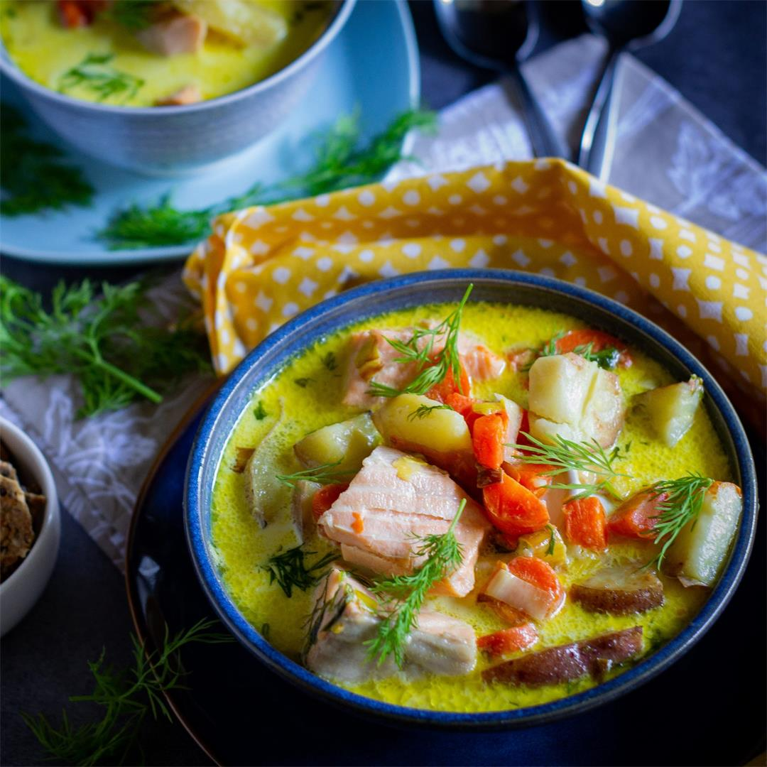 Lohikeitto (Finnish Creamy Salmon Soup)