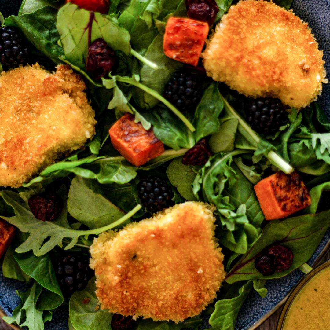 Salad With Fried Goat Cheese