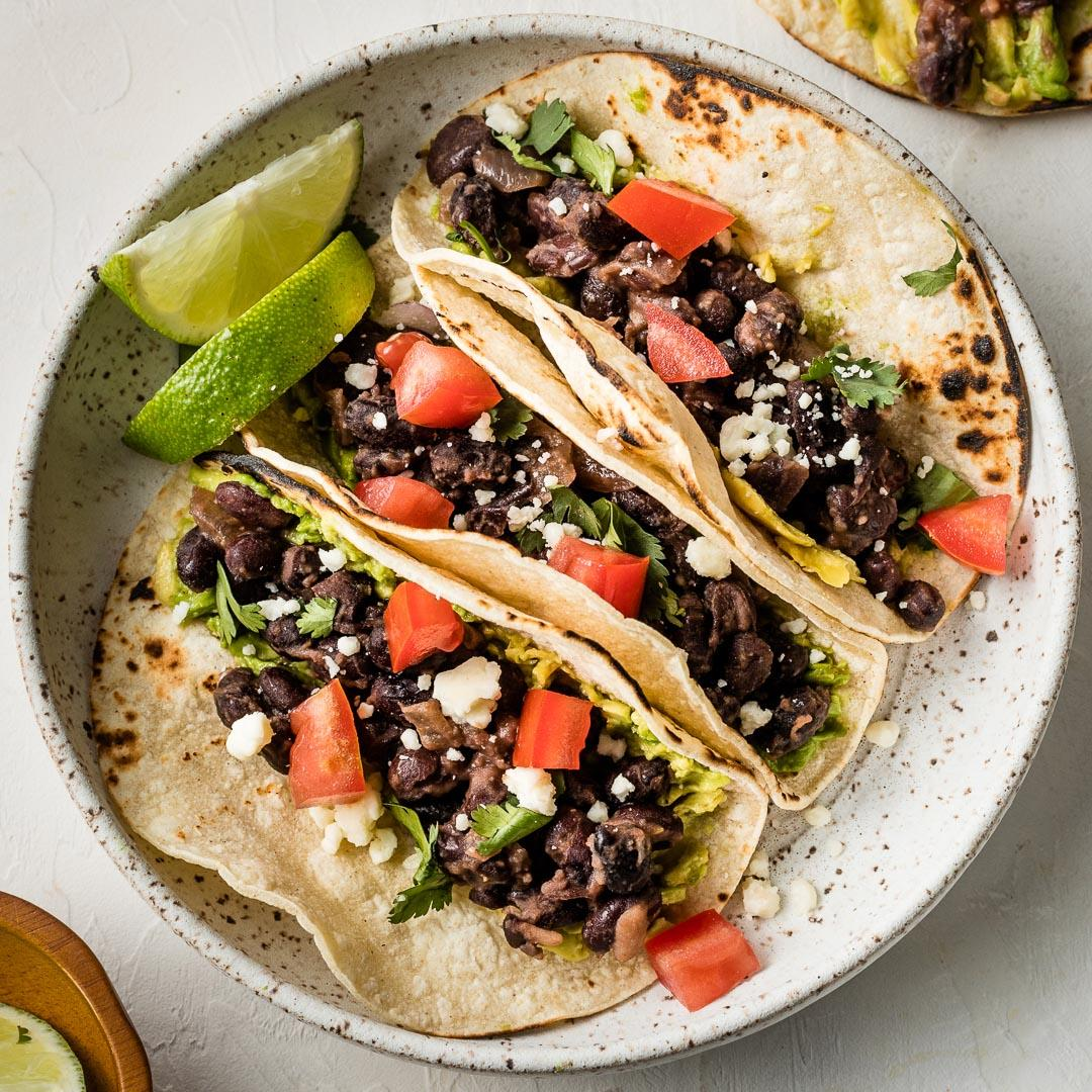 Simple Black Bean Tacos