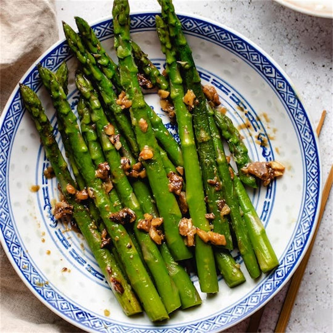 Sauteed Asparagus with Miso Butter