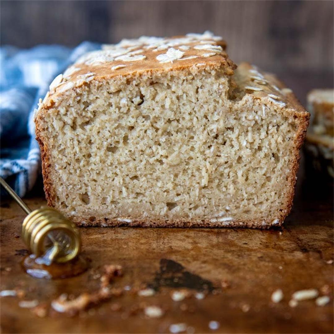 Gluten Free Oat Flour Bread