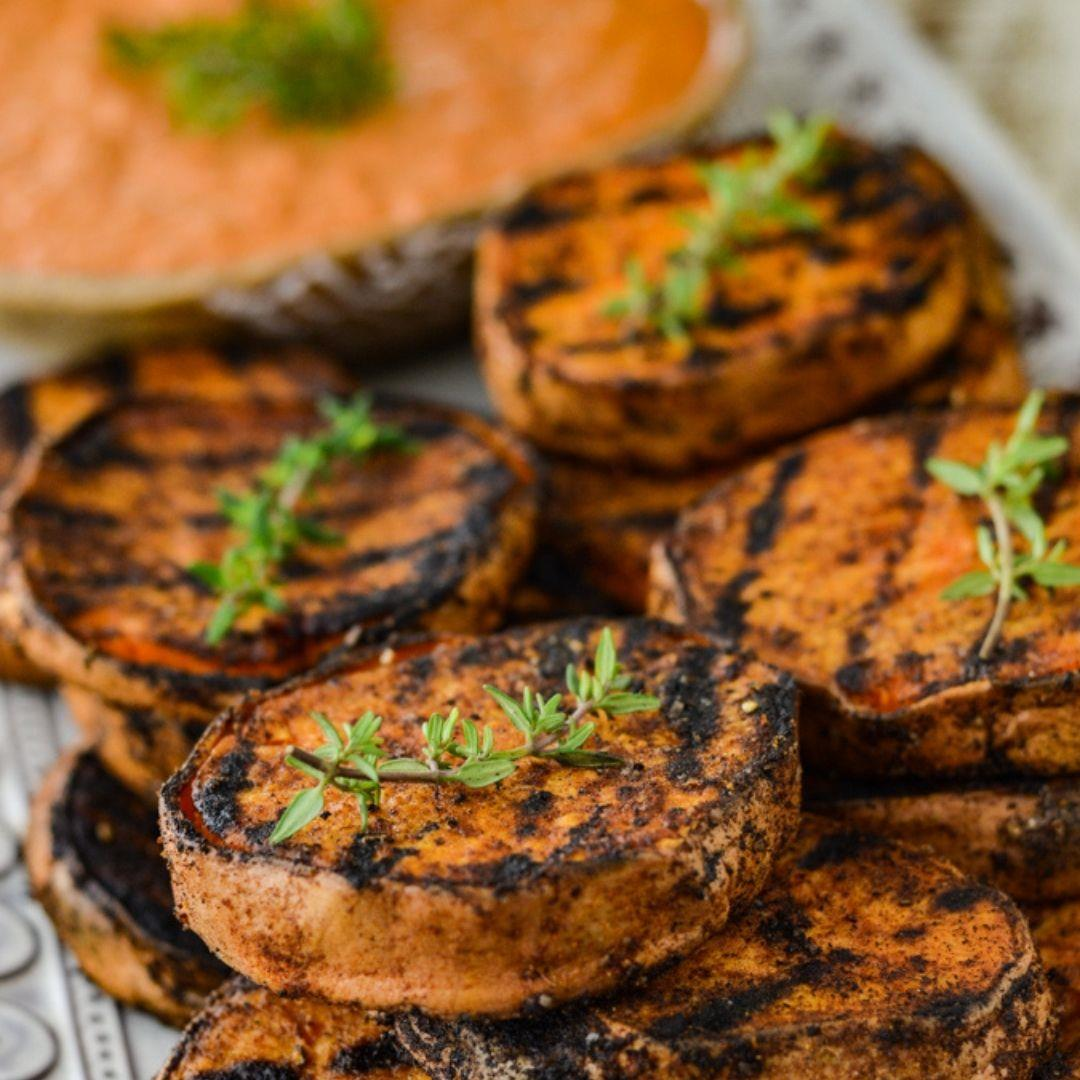Smoky Sweet Potatoes on the Grill