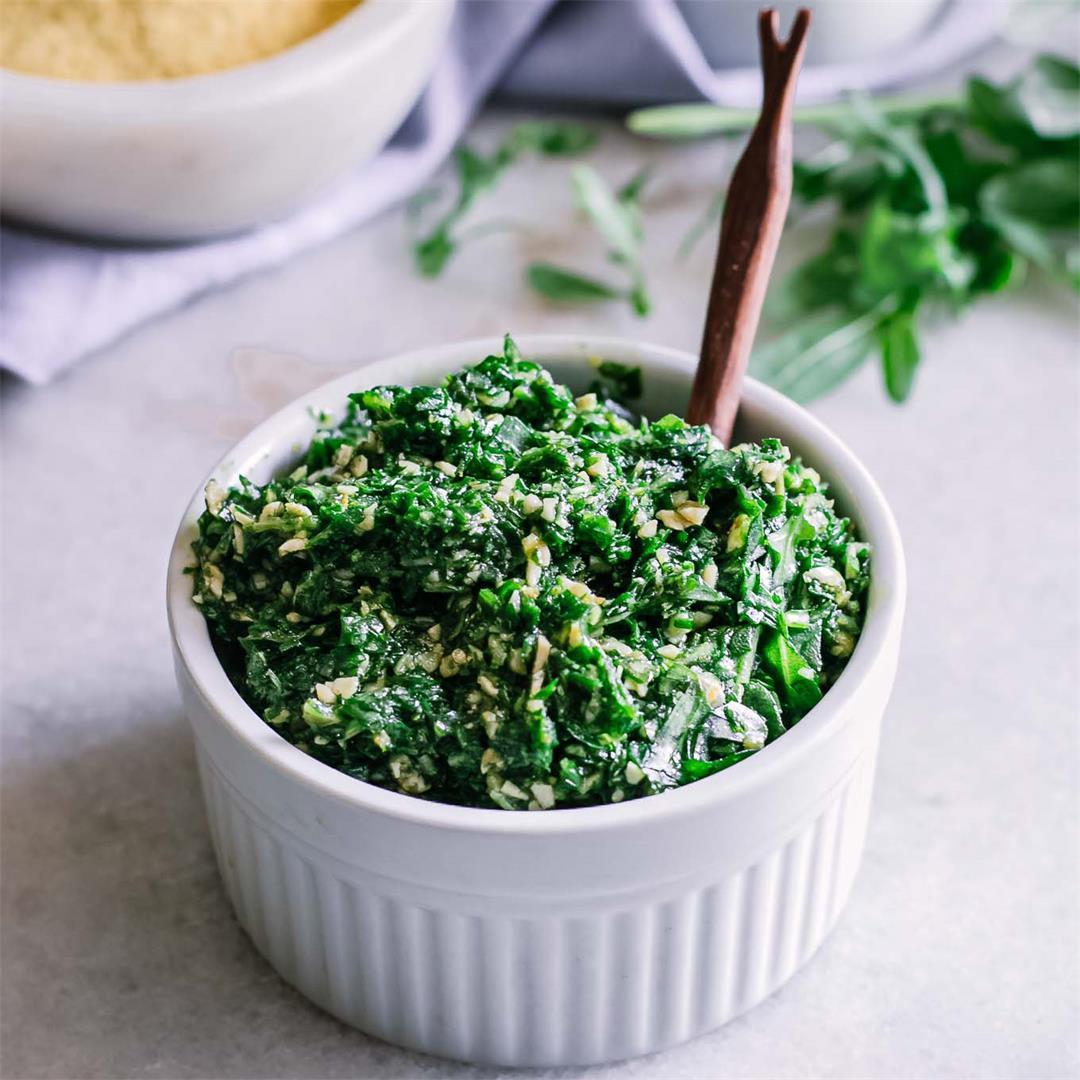 Vegan Arugula Pesto