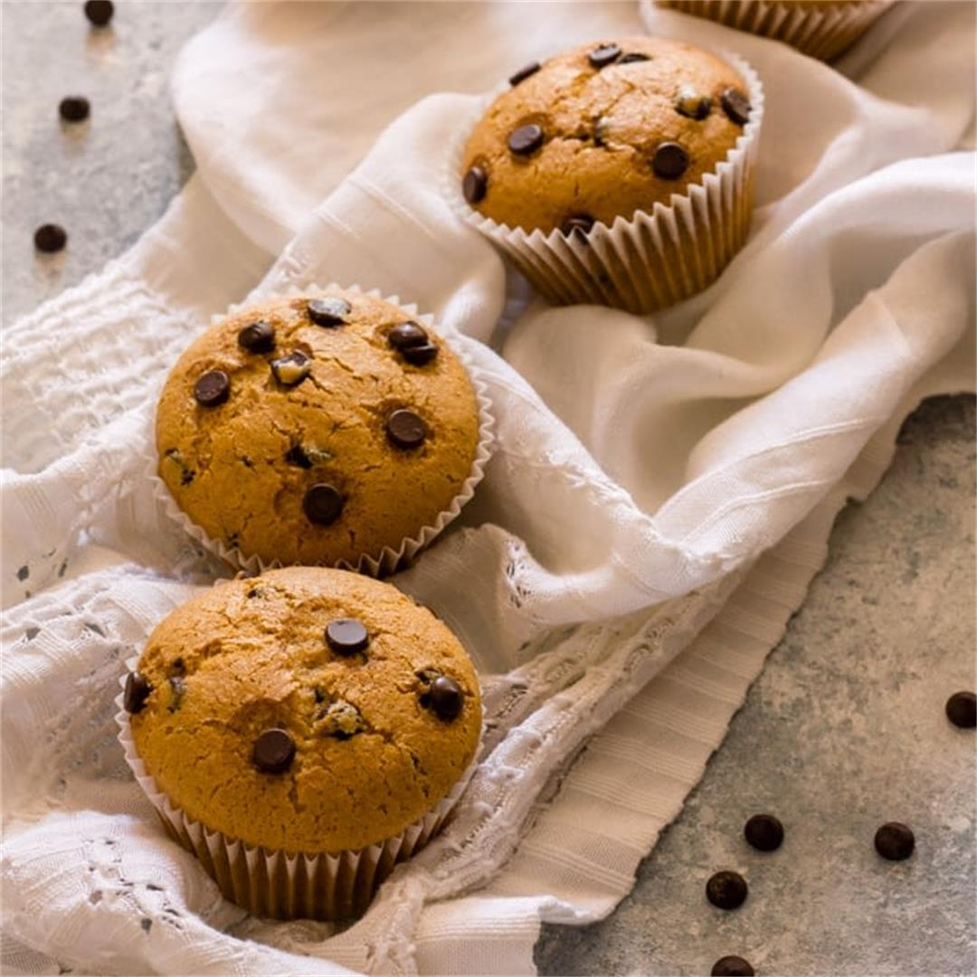 The Best Vegan Chocolate Chip Muffins (Quick + Easy) |