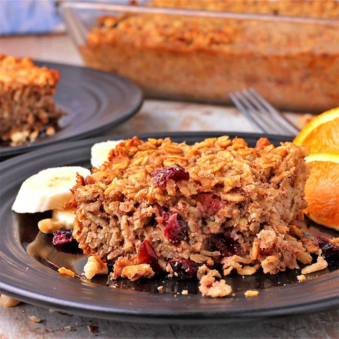 easy vegan baked oatmeal recipe