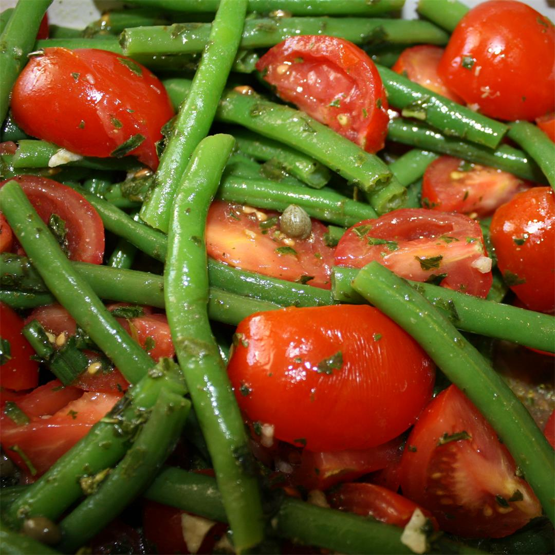 Easy String Bean and Tomato Salad
