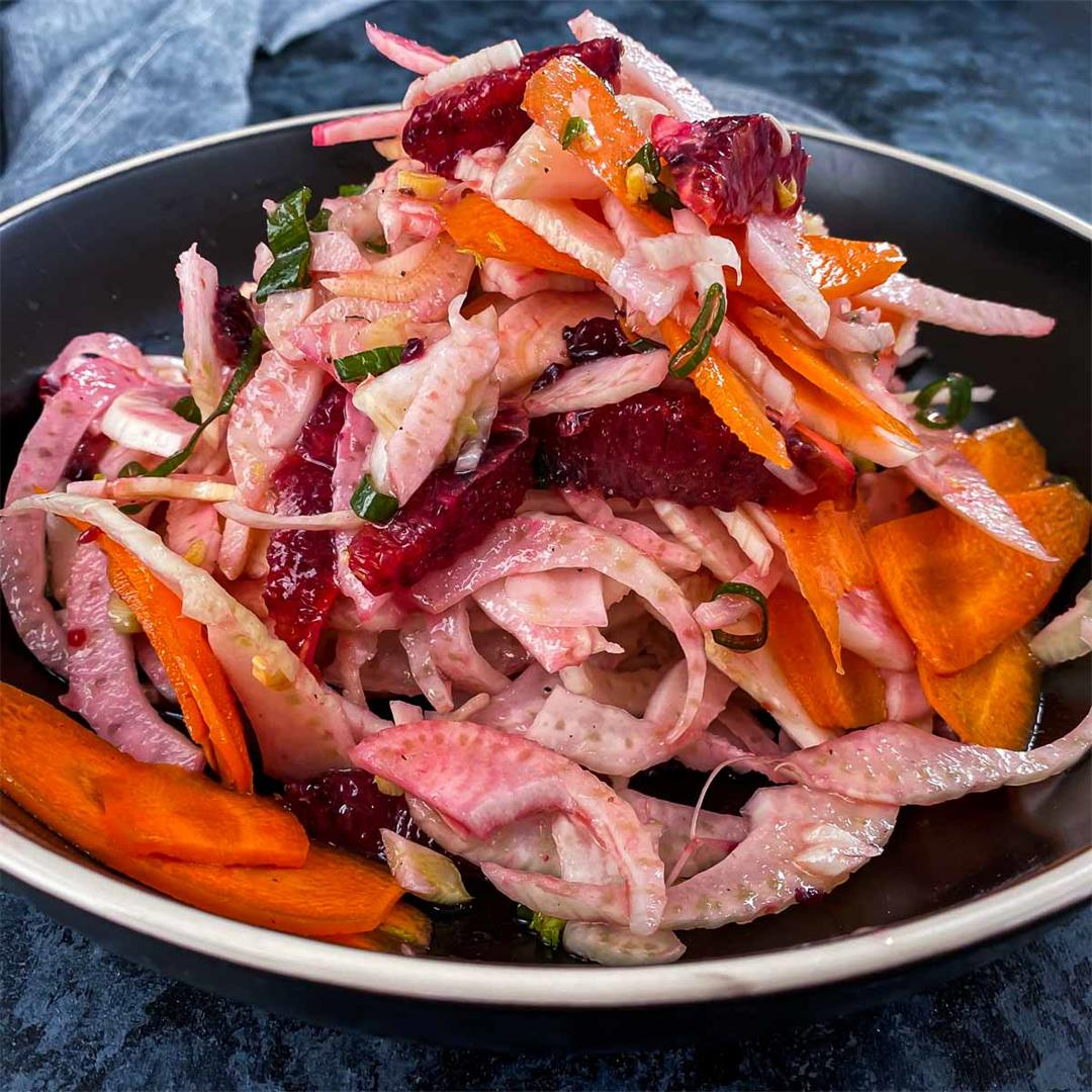 Fennel Salad with Blood Orange and Carrots