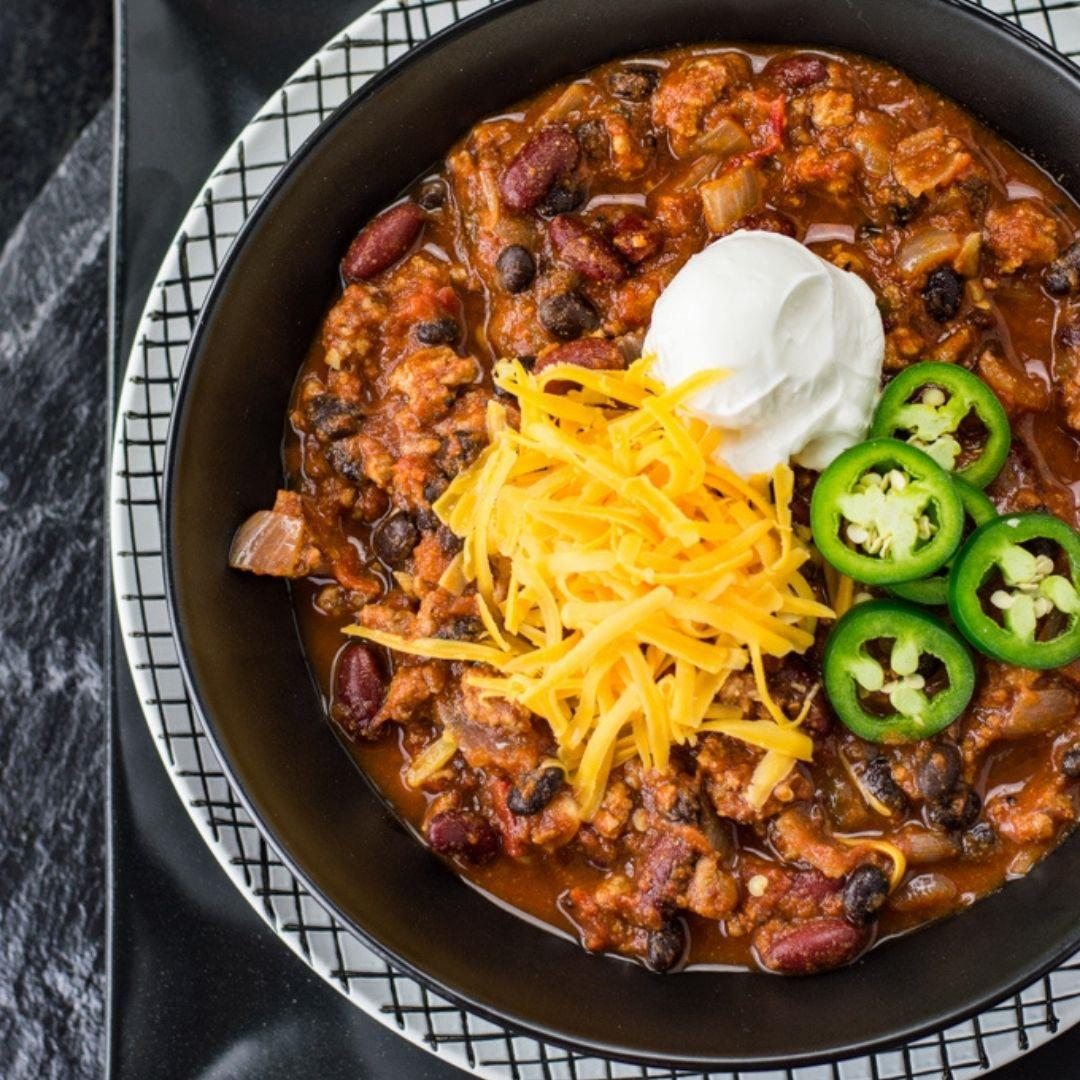 Homemade Healthy Chili Recipe with Turkey
