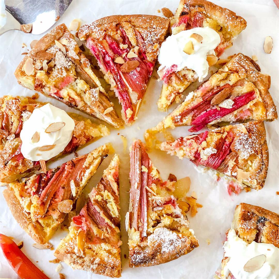 Rhubarb Almond Frangipane Tart