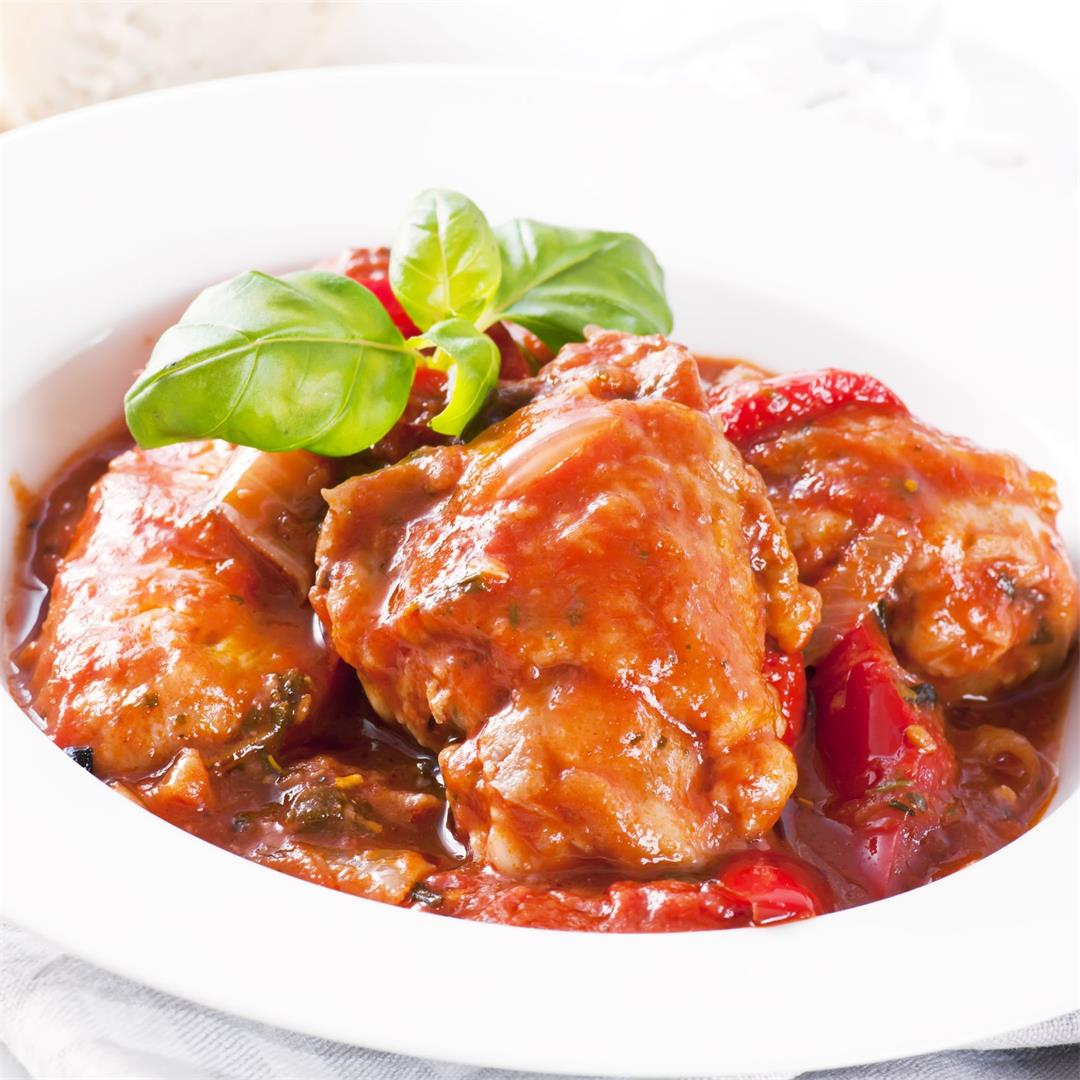 Authentic Italian Chicken Cacciatore Recipe