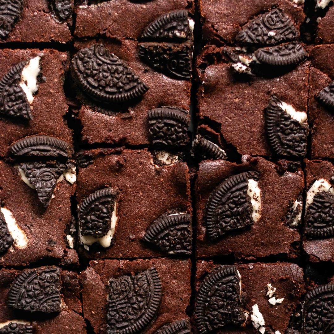Epic Vegan Oreo Brownies