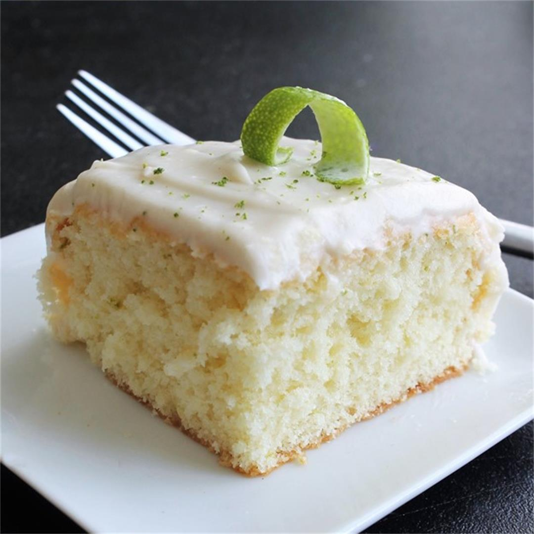 Lime Cake with Cream Cheese Frosting – My Recipe Reviews