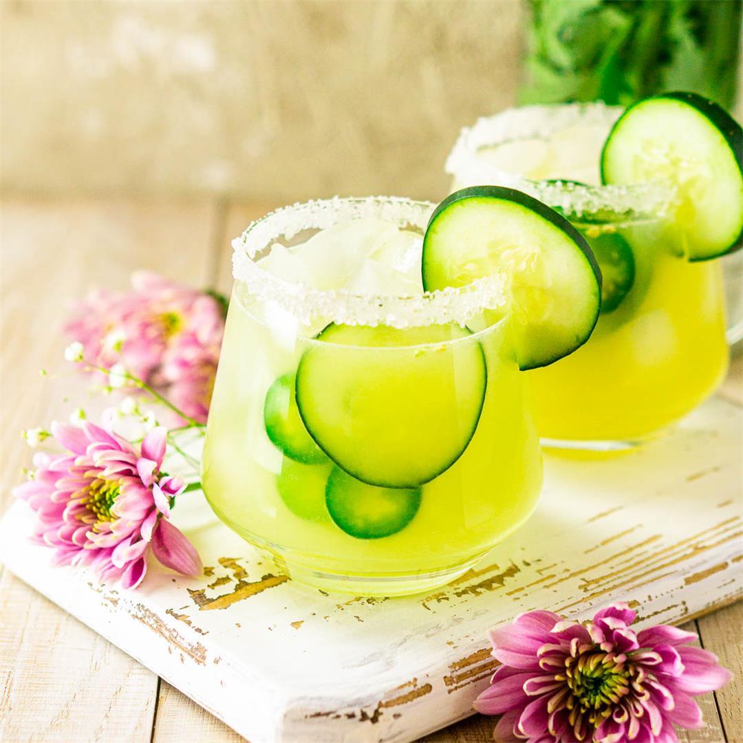 Cucumber-Jalapeño Margarita With Fresh Ginger