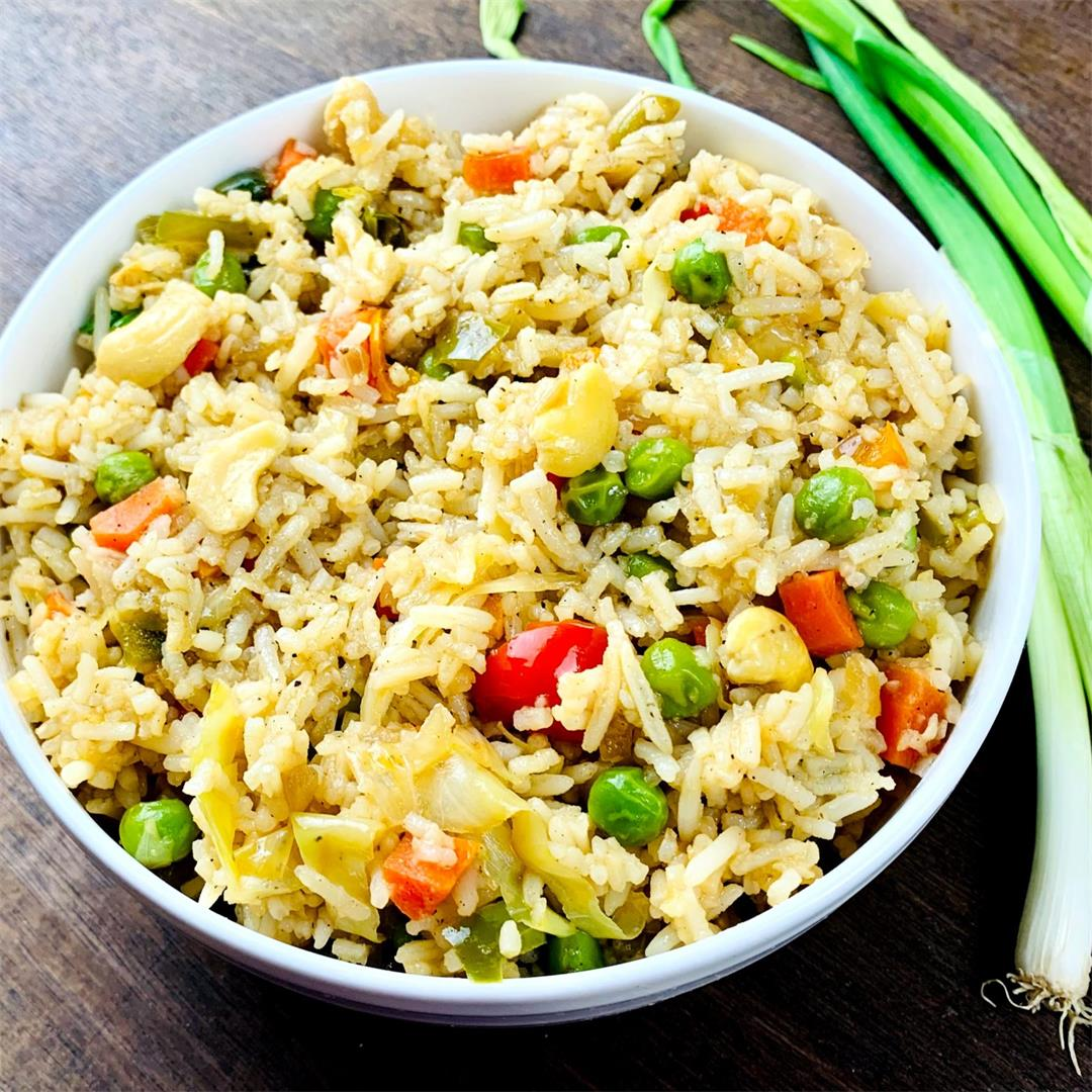 Veggie Fried Rice brimming with veggies and flavors