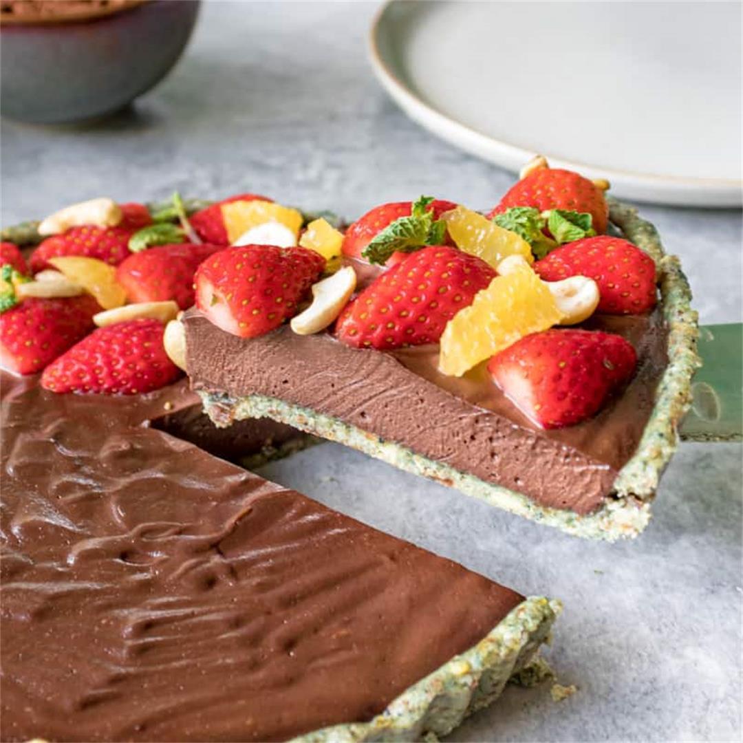 Raw Vegan Cacao & Orange Cheesecake