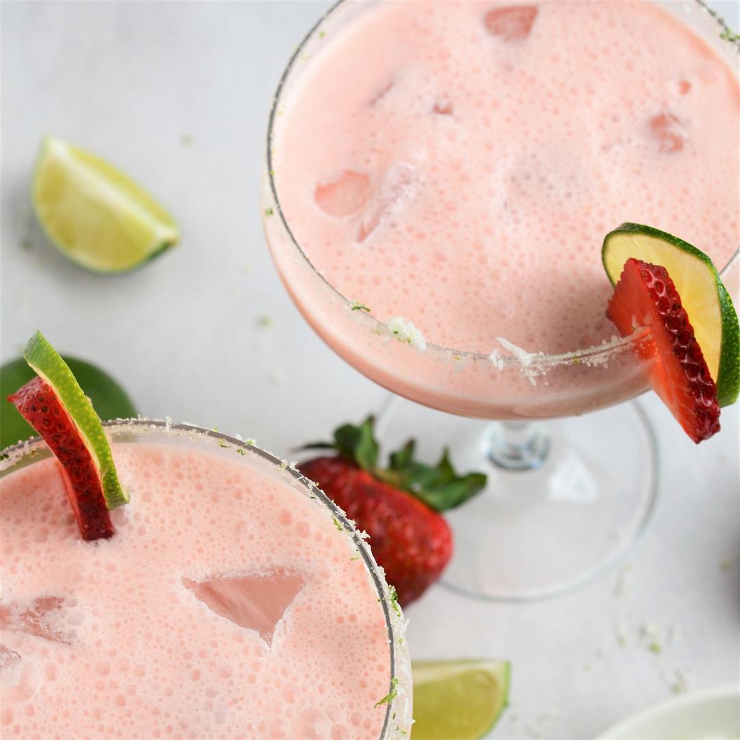 Creamy Coconut Strawberry Margarita