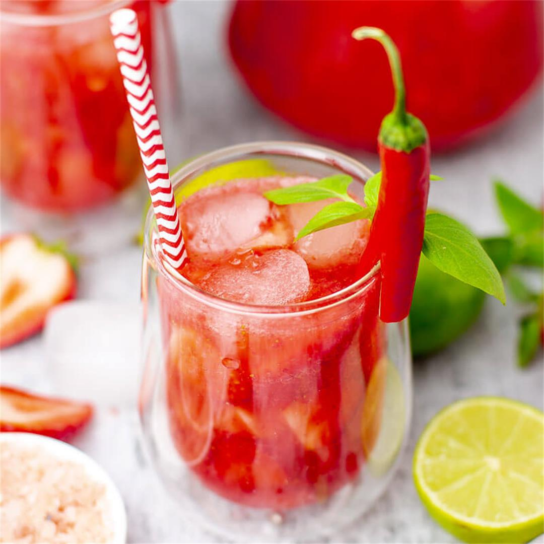 Strawberry Agua Frescas with Chili