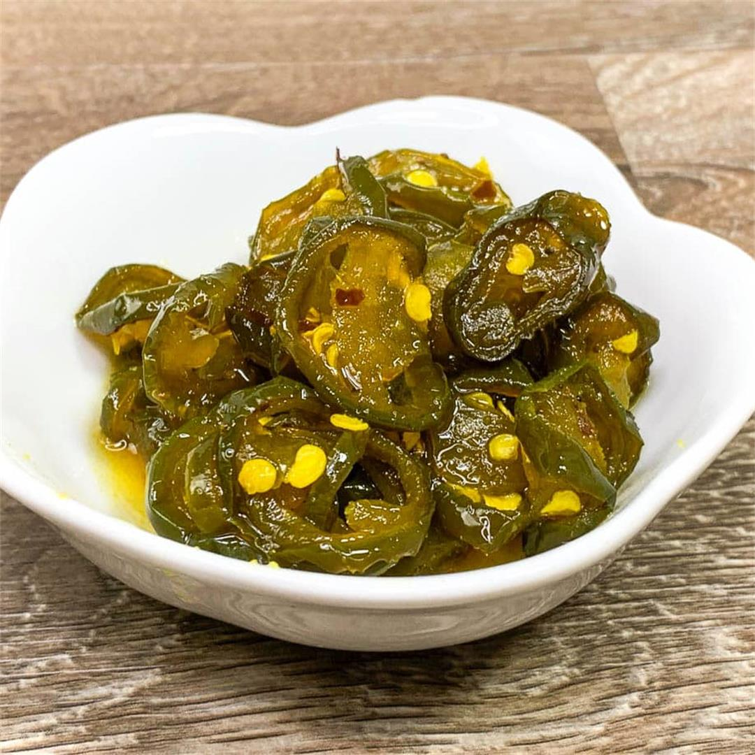 Easy Candied Jalapeños