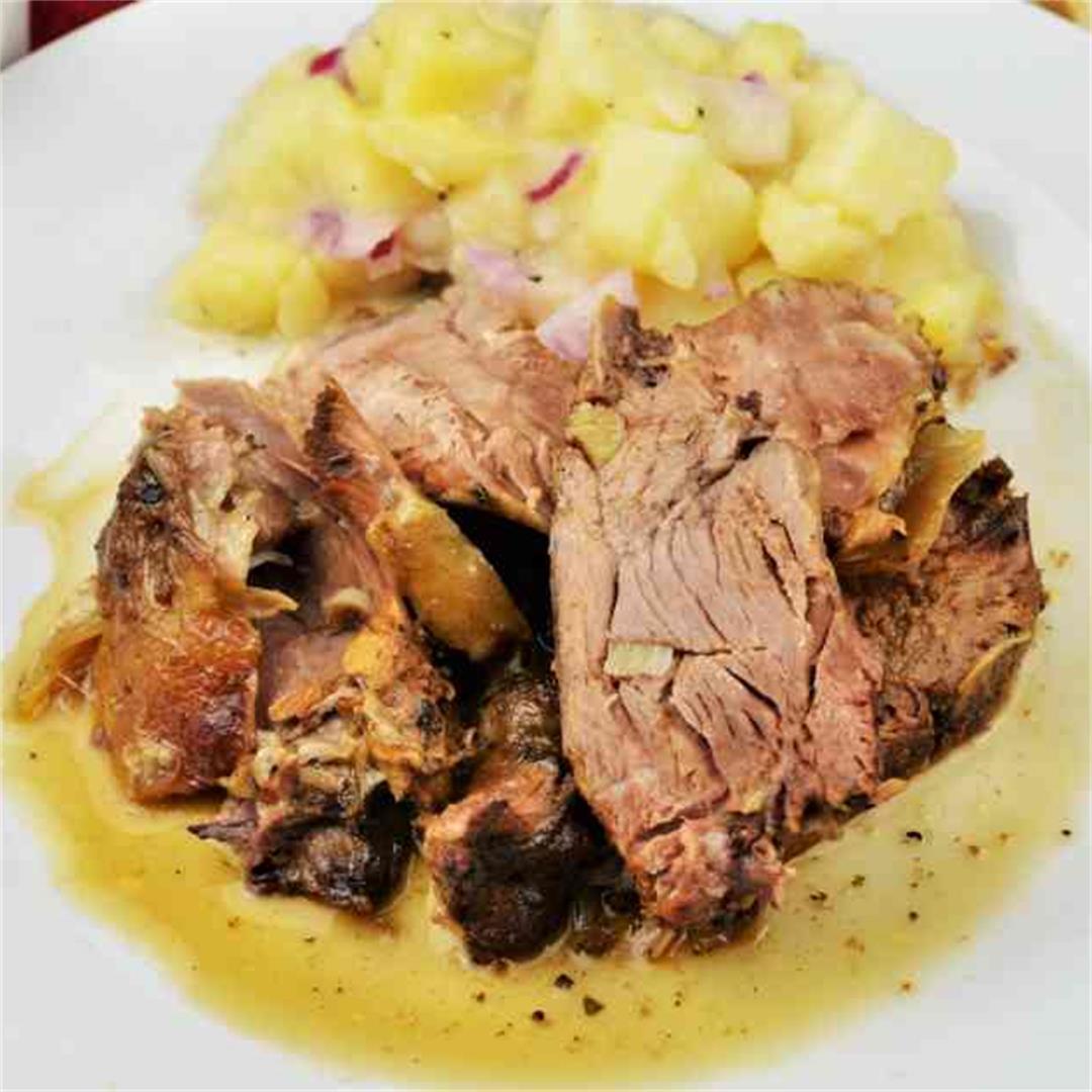 Slow Roasted Leg Of Lamb Recipe In Greek Style-Timea's Kitchen