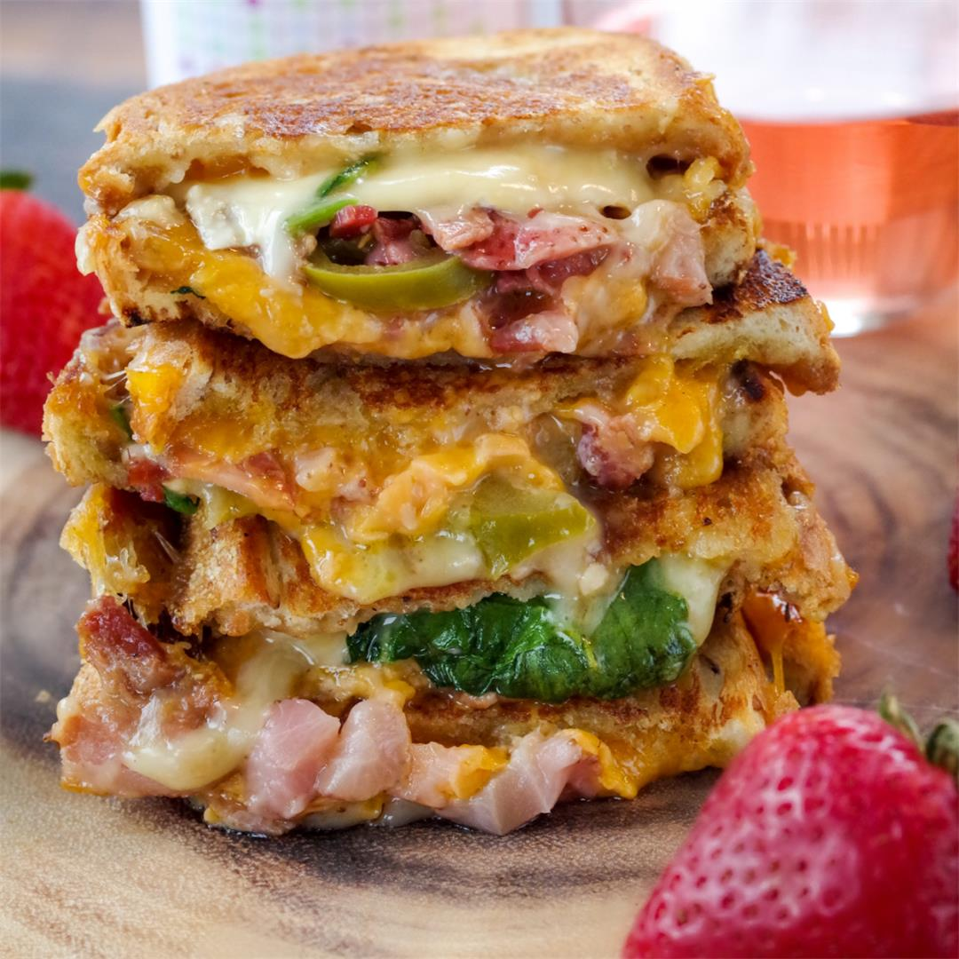 Strawberry Moscato Gourmet Grilled Cheese