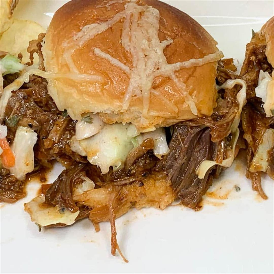 BBQ Pulled Pork Sliders with Ranch Slaw