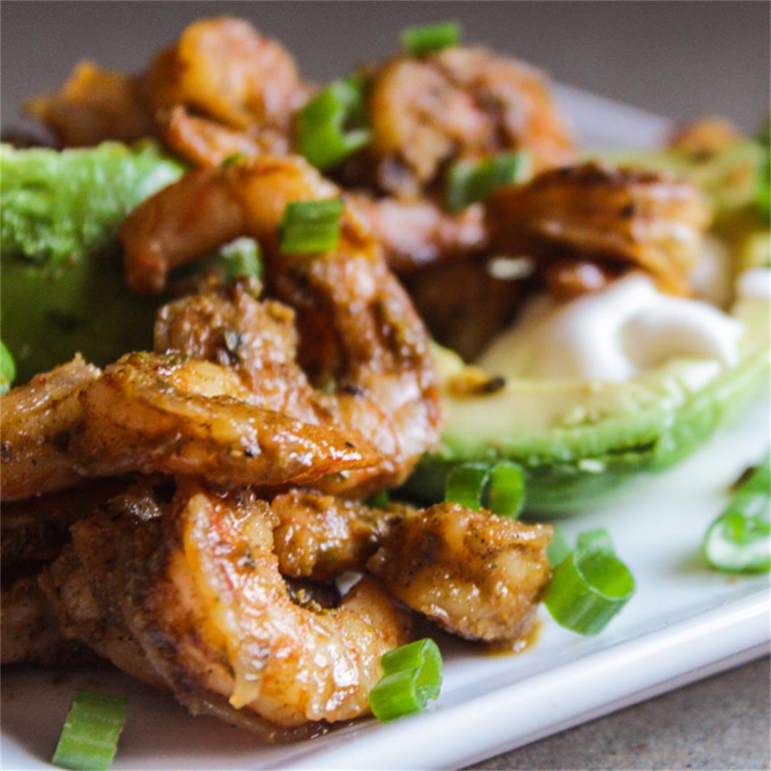 Creole Shrimp and Avocado