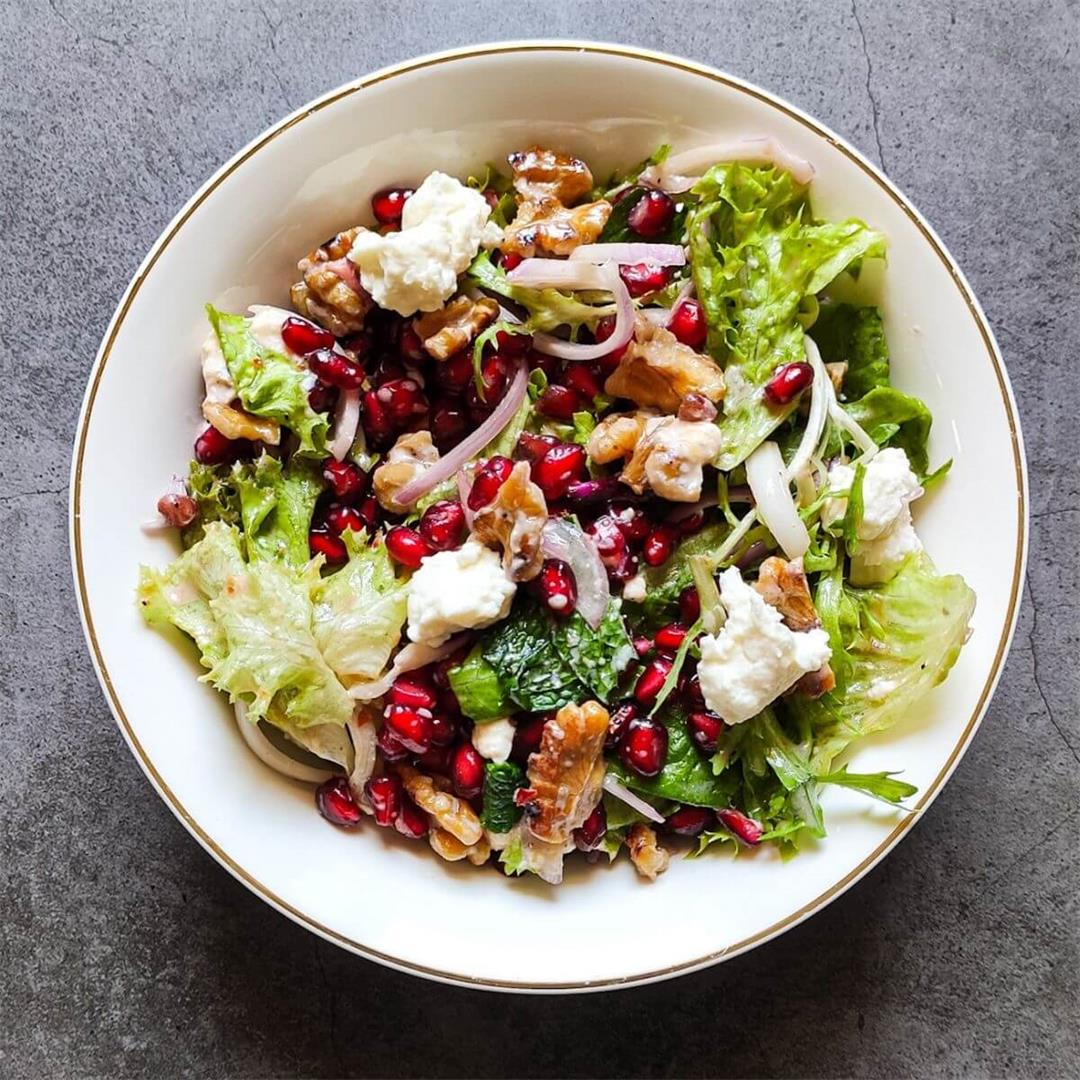 Pomegranate and feta salad