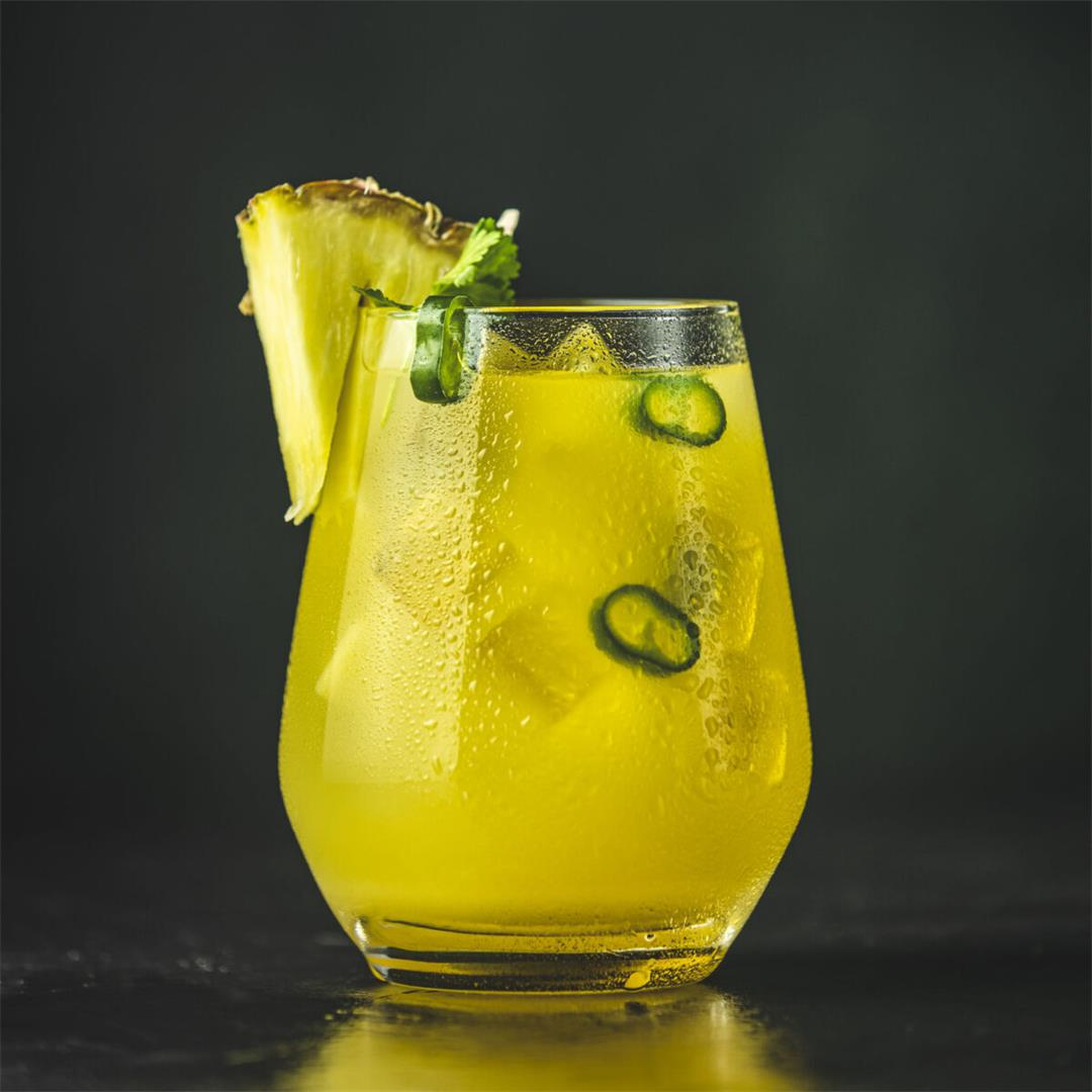 Spicy Pineapple Jalapeno Margarita