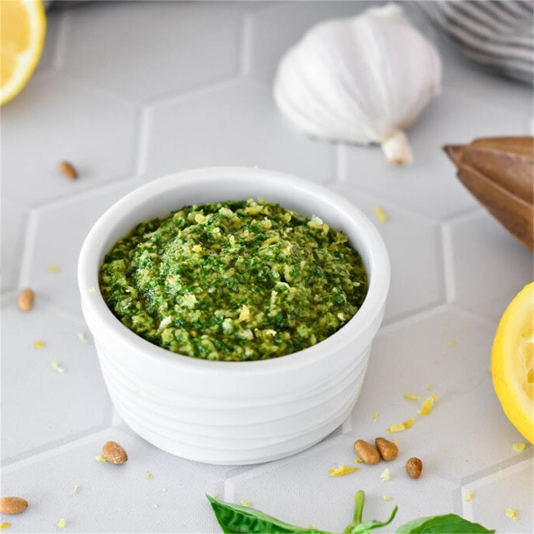 Lemon Basil Pesto — Foodborne Wellness