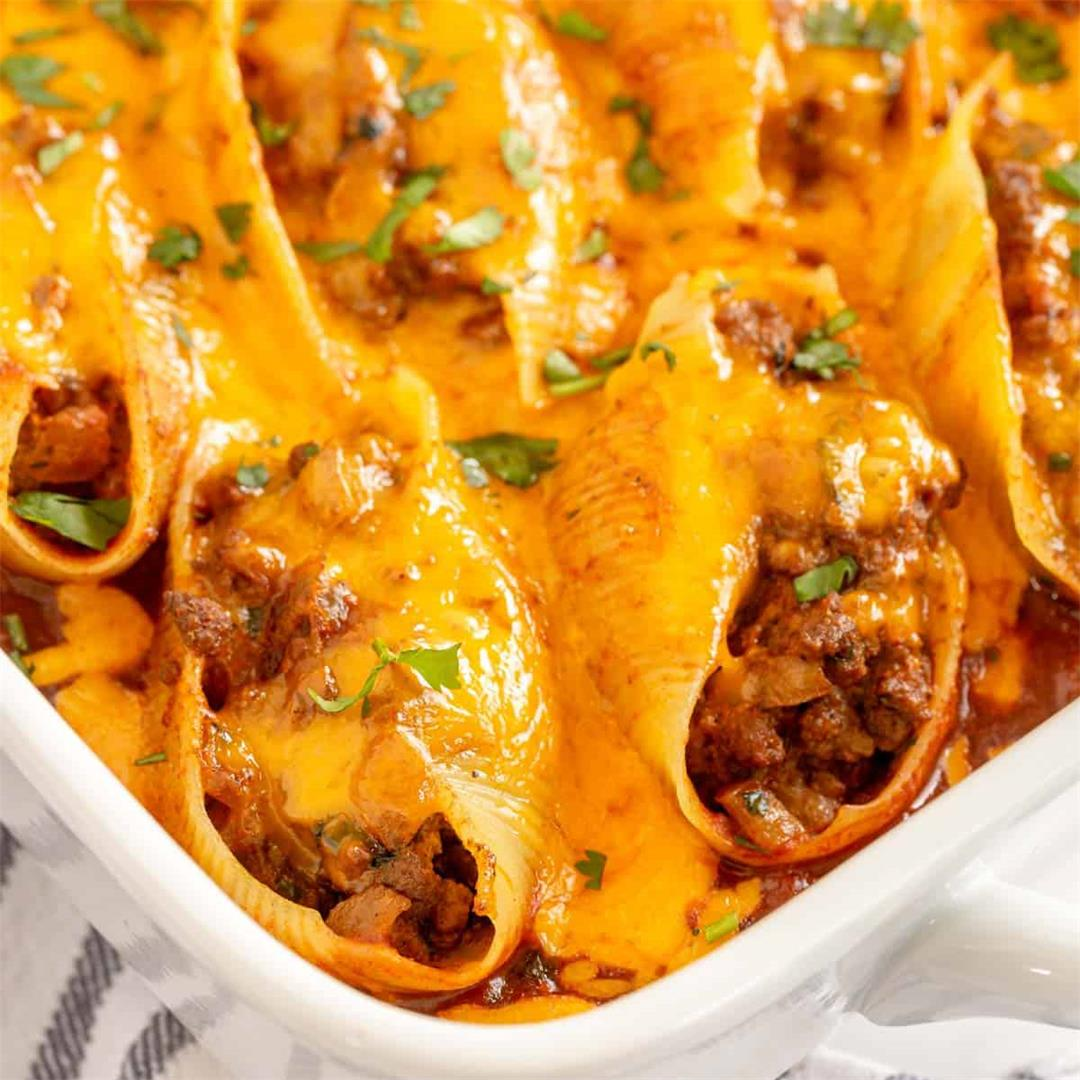 Mexican Stuffed Shells (Mexican Italian Fusion!)