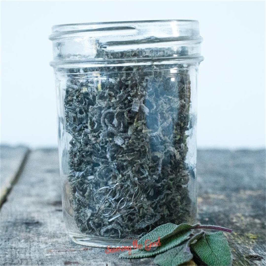 How To Dry Sage Leaves. 4 Different Options