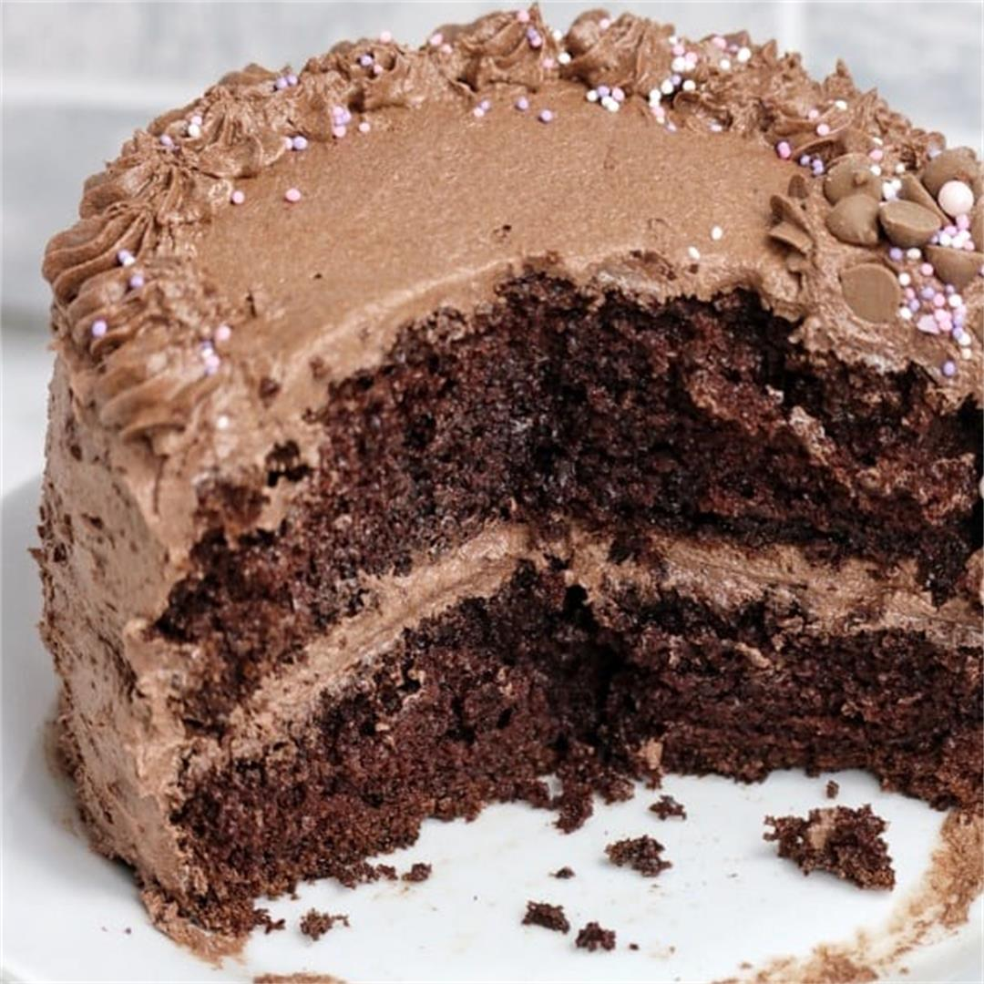 Simple Moist Chocolate Cake Recipe