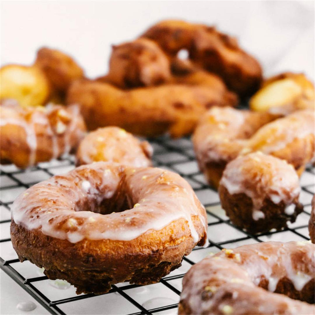 The BEST Lemon Greek Yogurt Cake Donuts