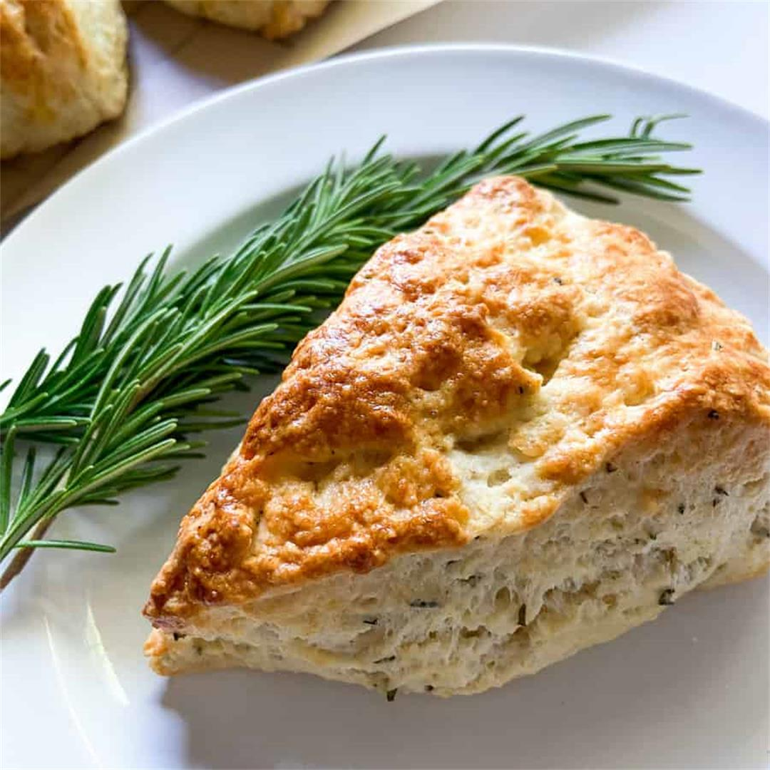 Savory Lemon Rosemary Scones – Sugary Logic