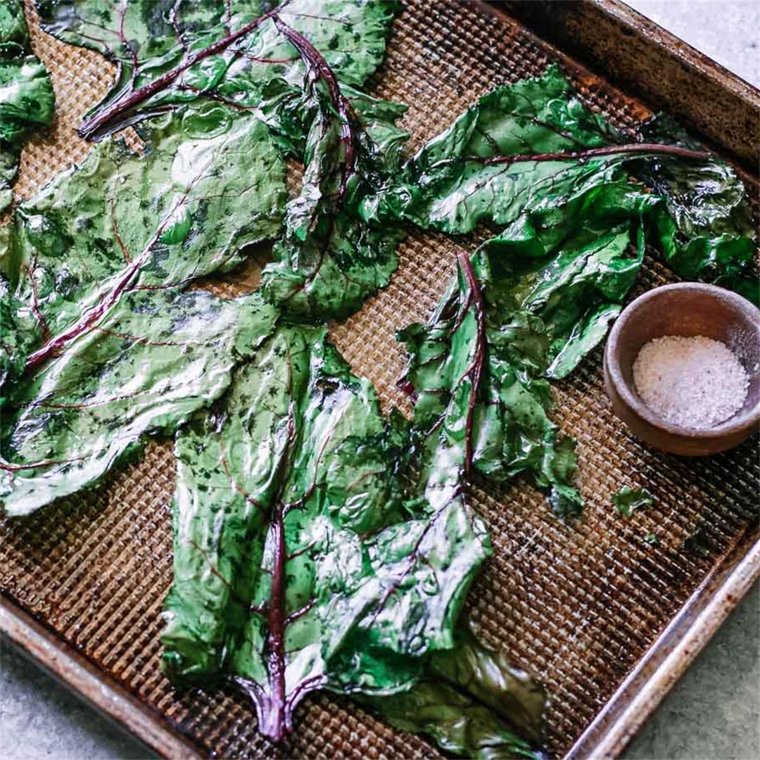 Crispy Baked Beet Greens