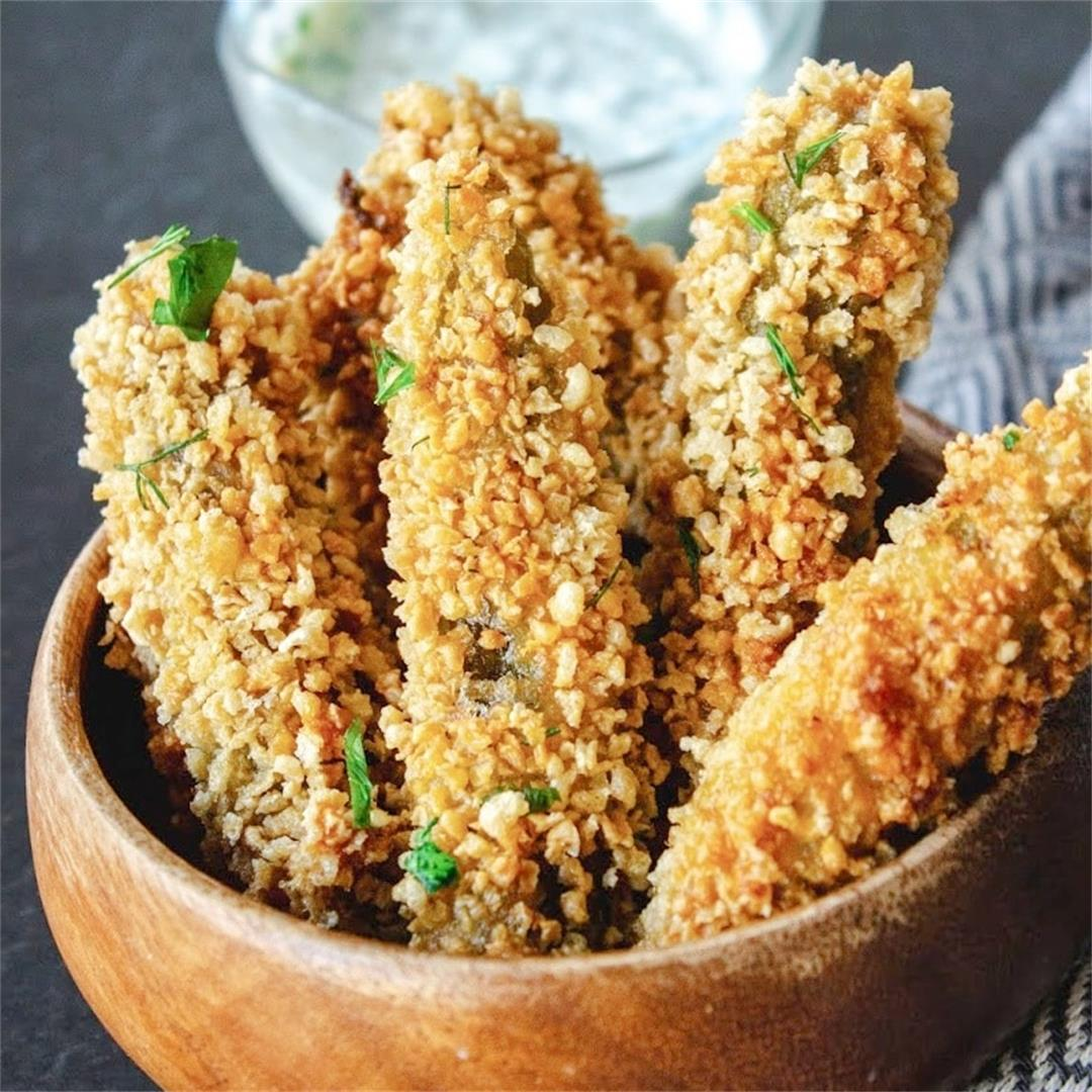 Fried Pickle Spears. Disneyland Fried Pickles