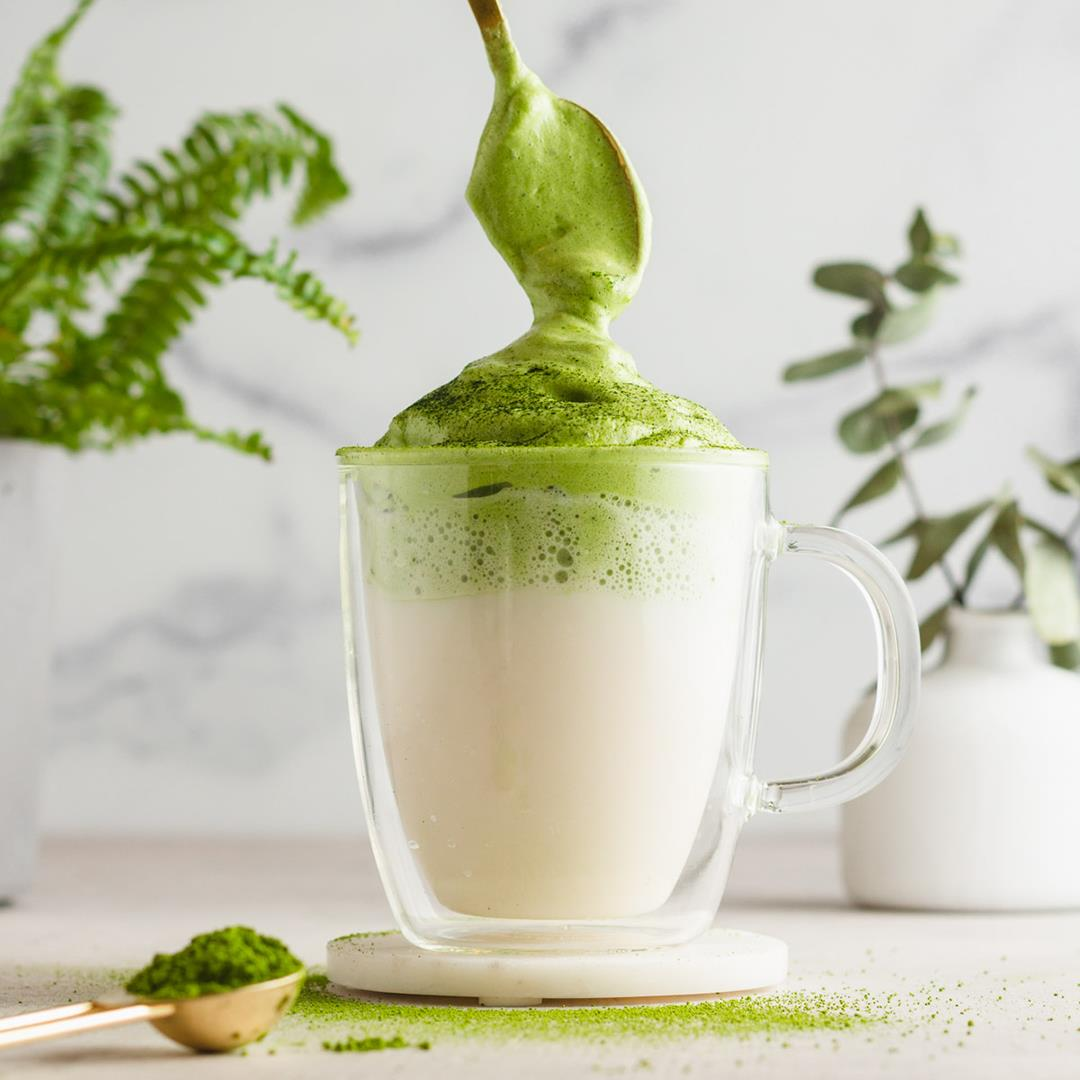 Dalgona Matcha (Egg Whites vs. Heavy Cream)