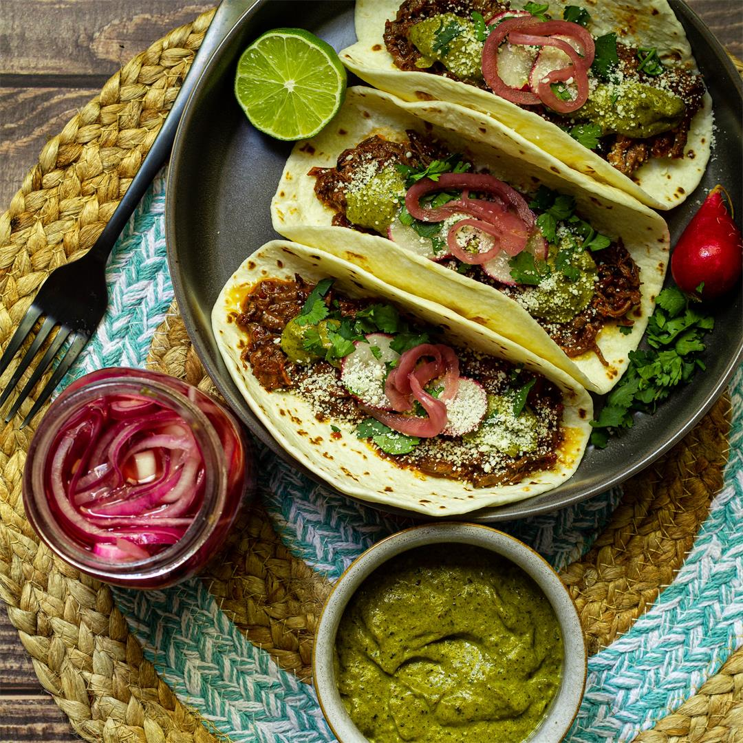 Slow Cooker Beef Tacos and Homemade Toppings