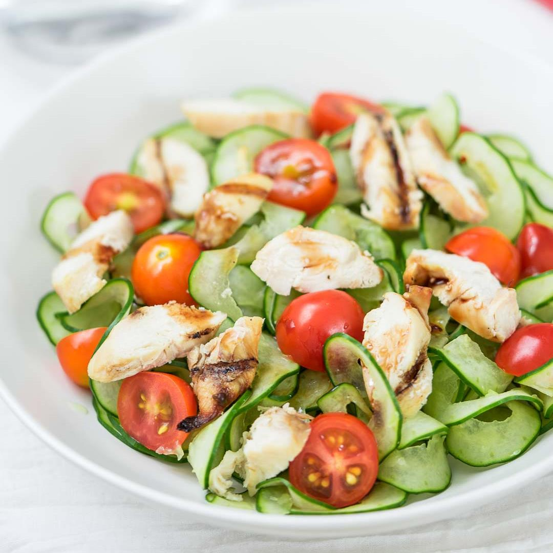 Chicken Tomato Cucumber Salad