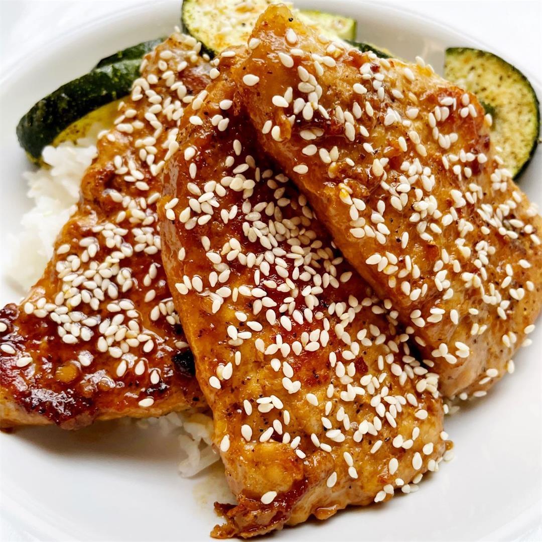 Simple Honey Garlic Pork Chops