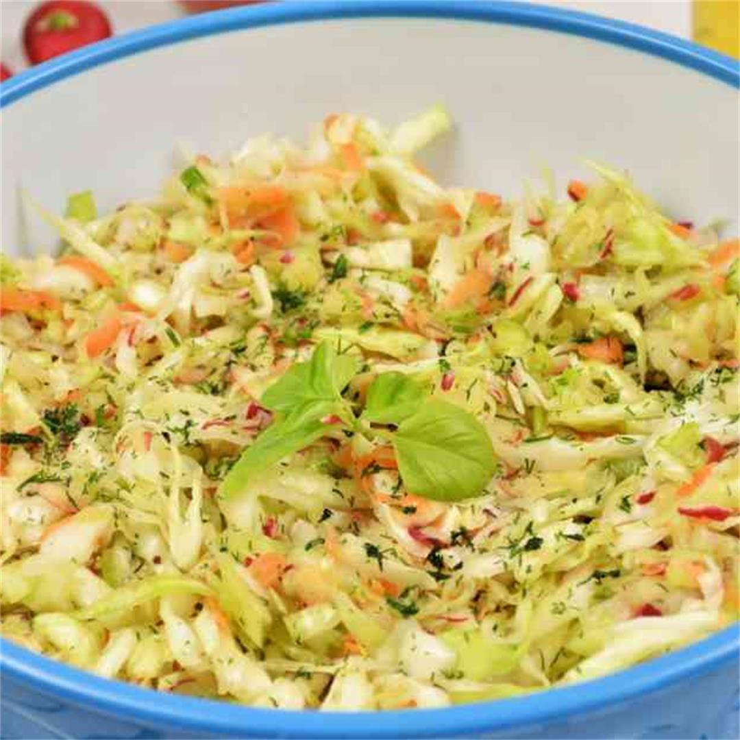 Best Mediterranean Cabbage Salad Recipe-Timea's Kitchen