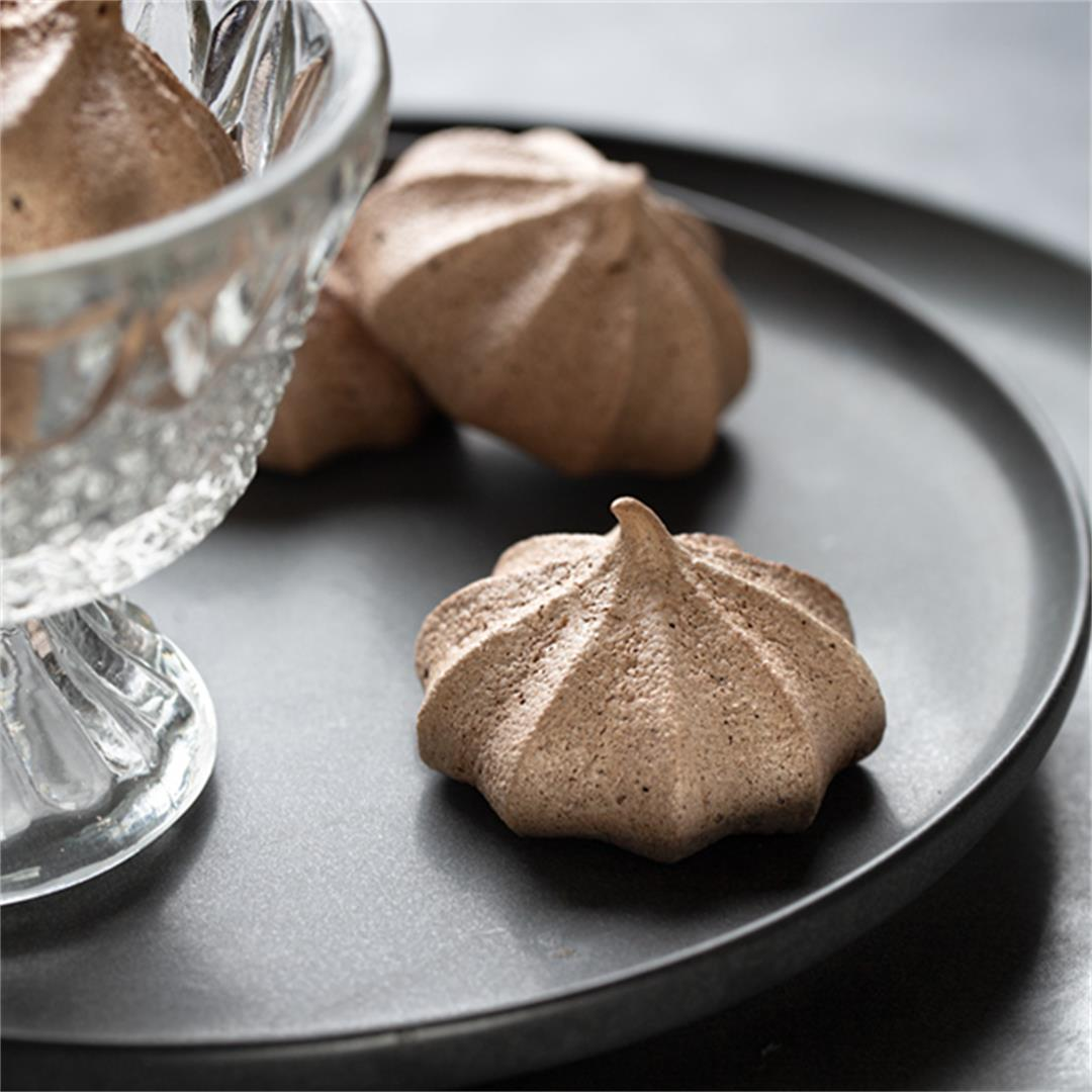 Vegan Cocoa Meringue Kisses (Light and Airy Cookies)