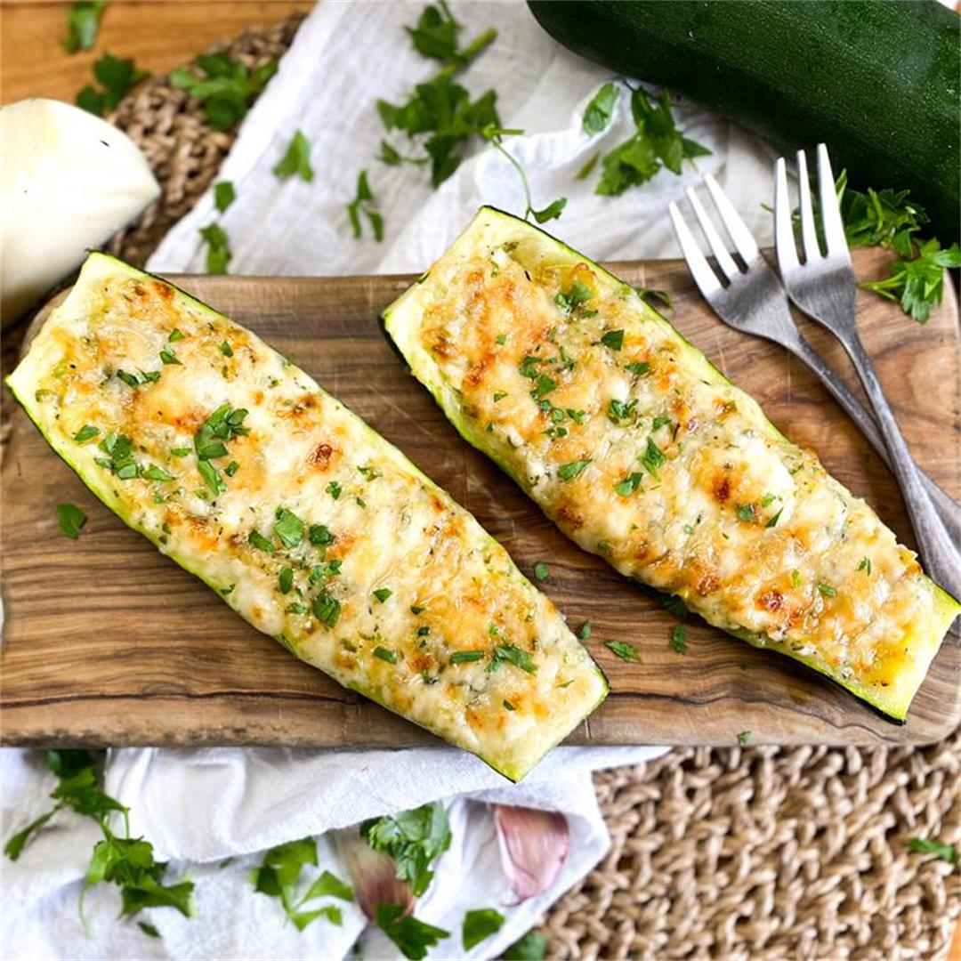 Spanish Stuffed Zucchini with Cheese